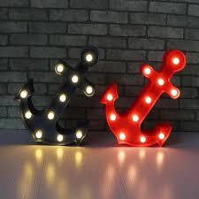 anclas decorativas luminosas